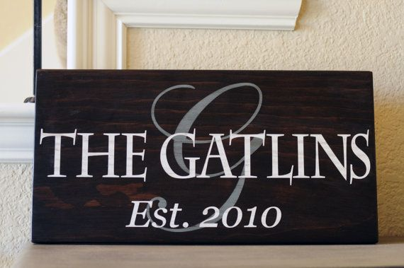 9in. by 18in. Personalized Family Name Sign