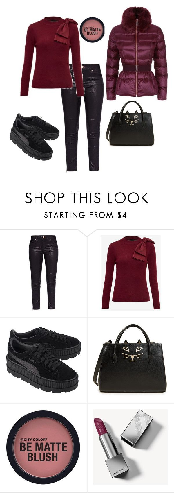"""""""♥️"""" by christine-at ❤ liked on Polyvore featuring Ted Baker, Puma, Charlotte Olympia and Burberry"""