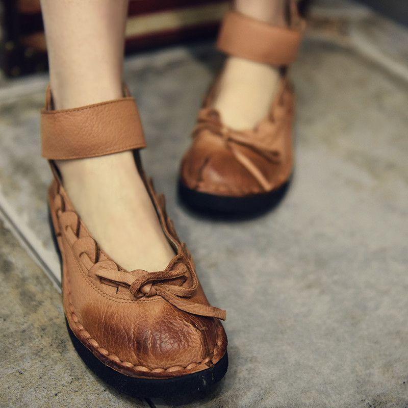 Aliexpress.com  Comprar Artmu zapatos de mujer primavera verano piel de  cerdo genuina zapatos eda86b1bcdfb