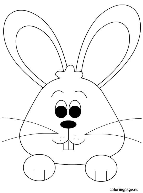 Bunny Face Coloring Page (With images) | Easter drawings ...