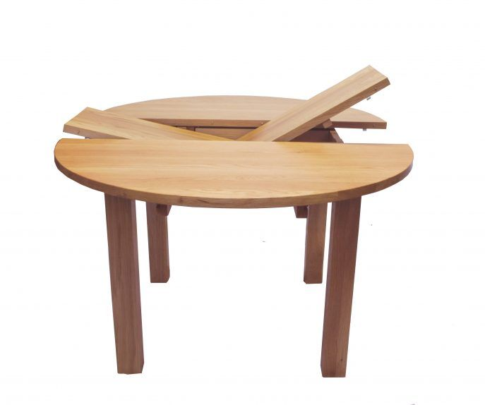 Charming Cool And Creative Oak Wood Expandable Round Extendable Dining  Decoration
