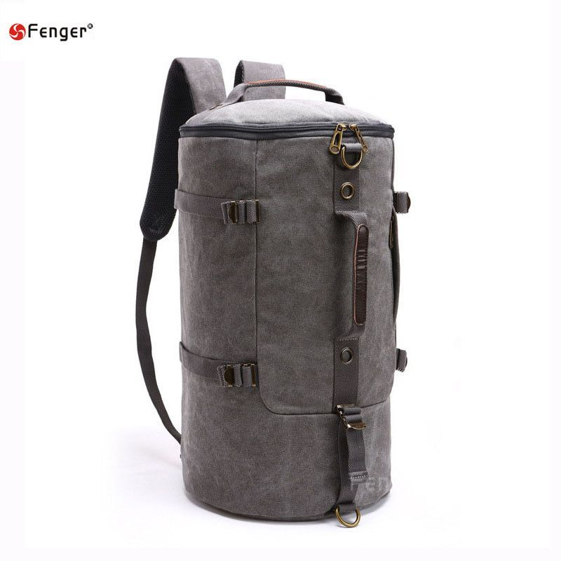 High capacity Men Fashion Designer Vintage Canvas Big Size Men Travel Bags Luggage Backpacks outdoors mountaineering backpack