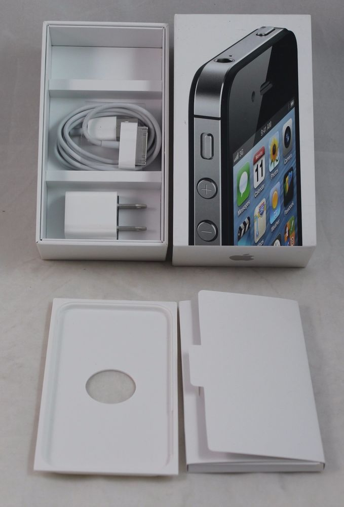 Apple Iphone 4s Box New Power Plug Cable White Box Instructions