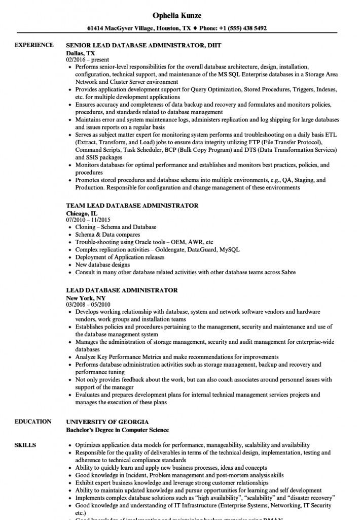 Oracle Dba Resume 2021 Project Manager Resume Business Analyst Resume Resume Examples