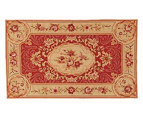 Tappeto Aubusson in lana a mezzo punto Floreal 92x153 cm