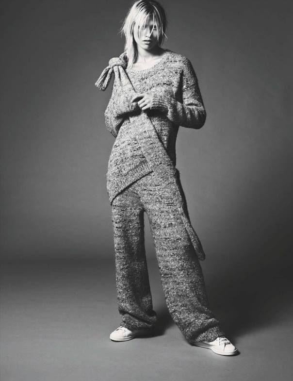 Grosse Freiheit  Publication: Vogue Germany November 2014 Model: Hana Jirickova Photographer: Nick Dorey Fashion Editor: Katie Mossman Hair: Marki Shkreli Make-up: Stevie Huynh Nails: Holly Falcone