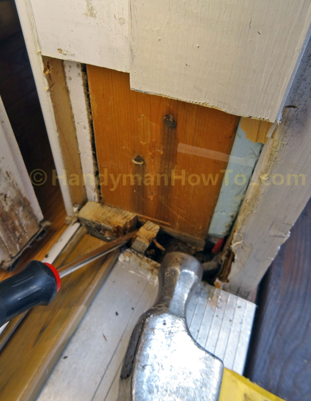 Exterior Door Frame Repair Split And Remove Wood Fastened To Door