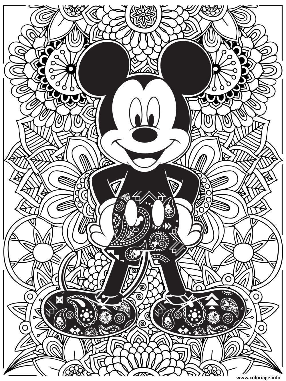 idee 20 Coloriage A Imprimer Mandala en 20  Coloriage mickey