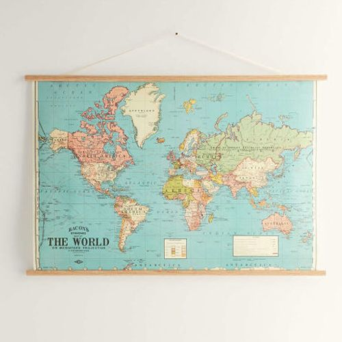 Urban Outfitters Hanging World Map