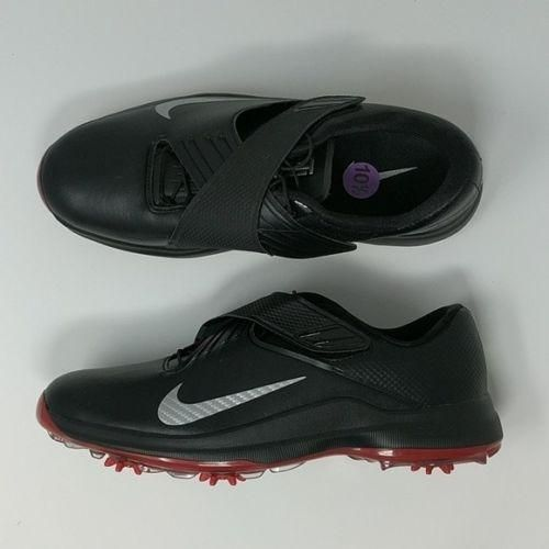 Nike TW 17  Tiger Woods Mens Golf Shoes Spikes Black Red 880955 001 Sz 10.5 48f251446