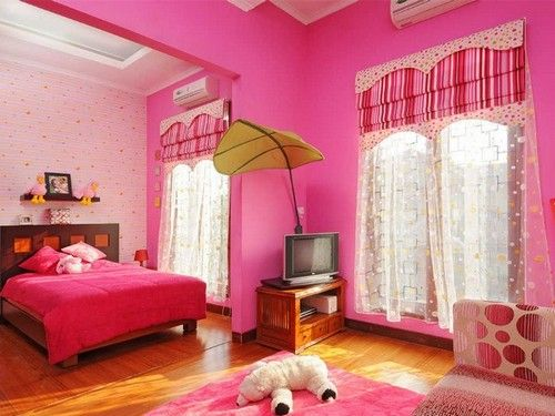 Pink Interior Wall Paint Ideas For Bedroom  Bedroom Designs Pleasing Paint Design For Bedroom Decorating Design