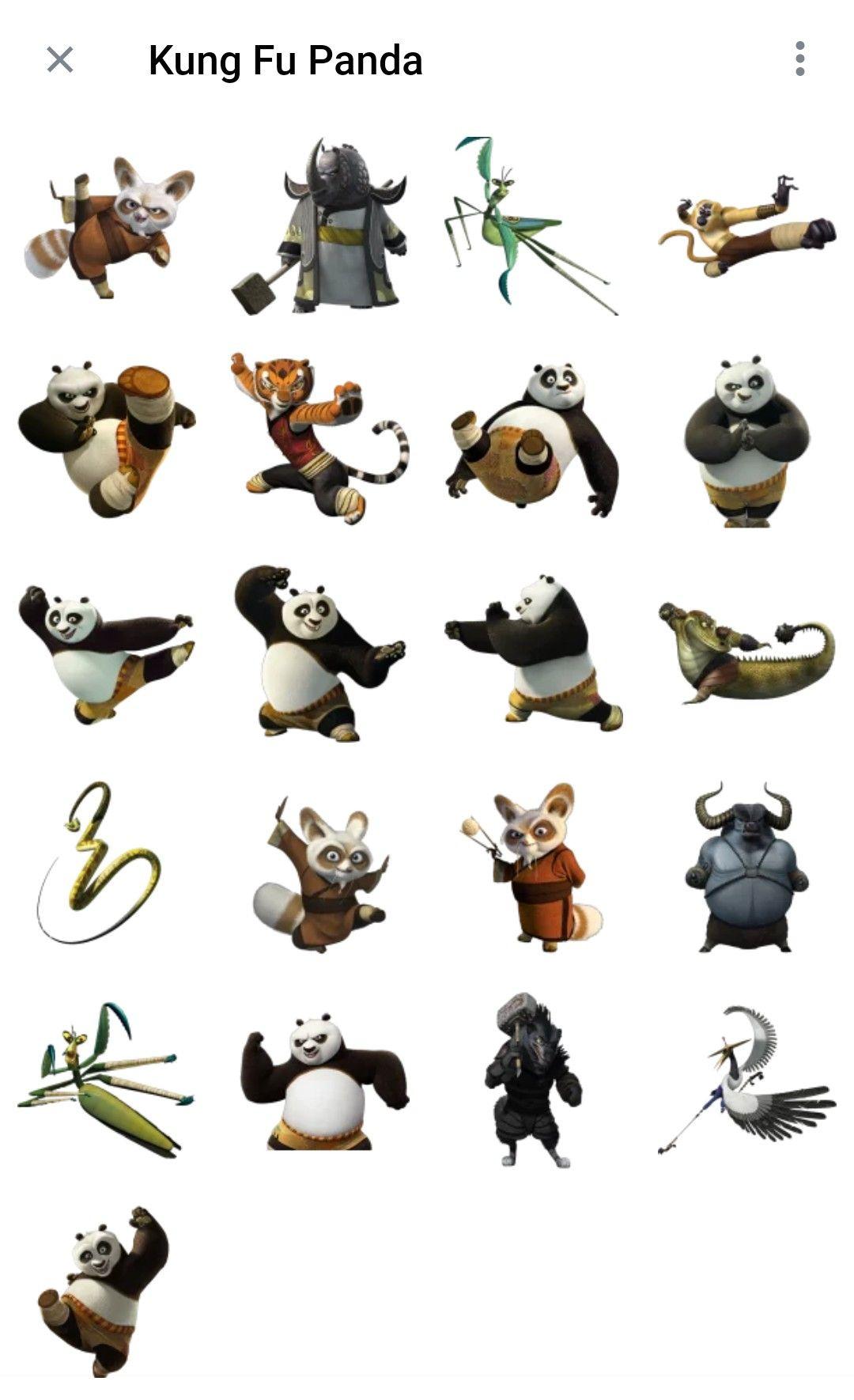 Kung fu Panda Telegram sticker packs Kung fu panda