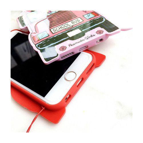 Typisch school bus PMMA telephone case für apple
