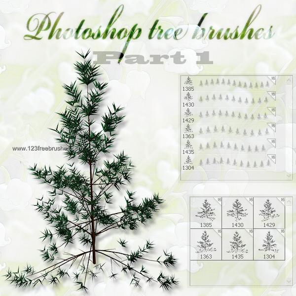 Christmas Tree Tree Photoshop Free Brush Simple Christmas Tree