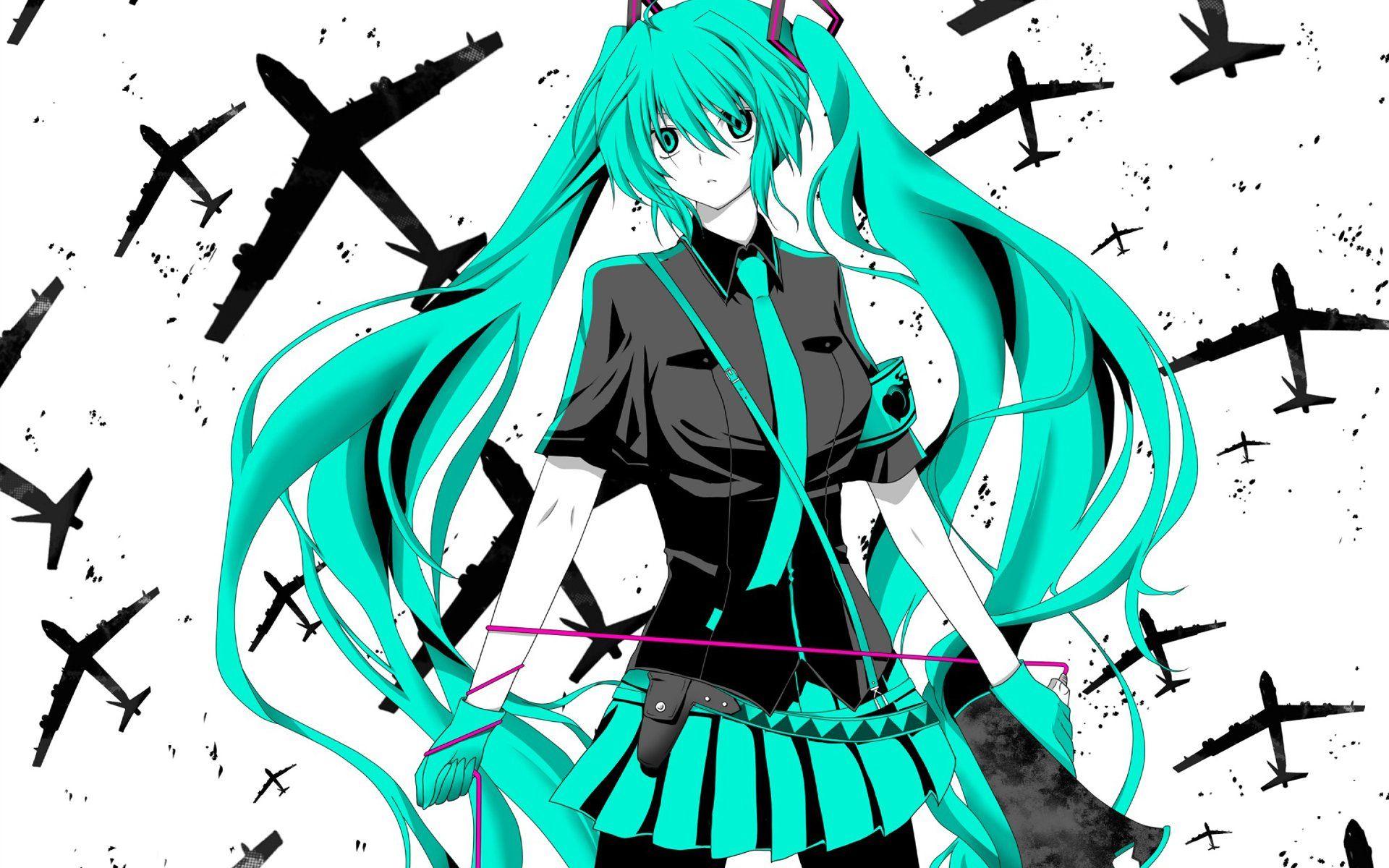 Vocaloid Hatsune Miku Love Is War Megaphones Wallpaper 1920x1200