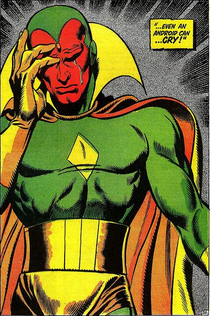 Avengers 58 Even an Android Can Cry John Buscema 1968 by giantsizegeek, via Flickr
