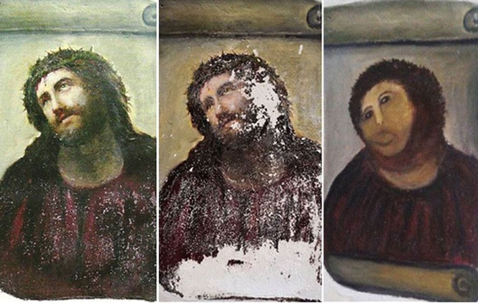 'Good deed' by rogue restoration pensioner ruins 19th-century Spanish fresco