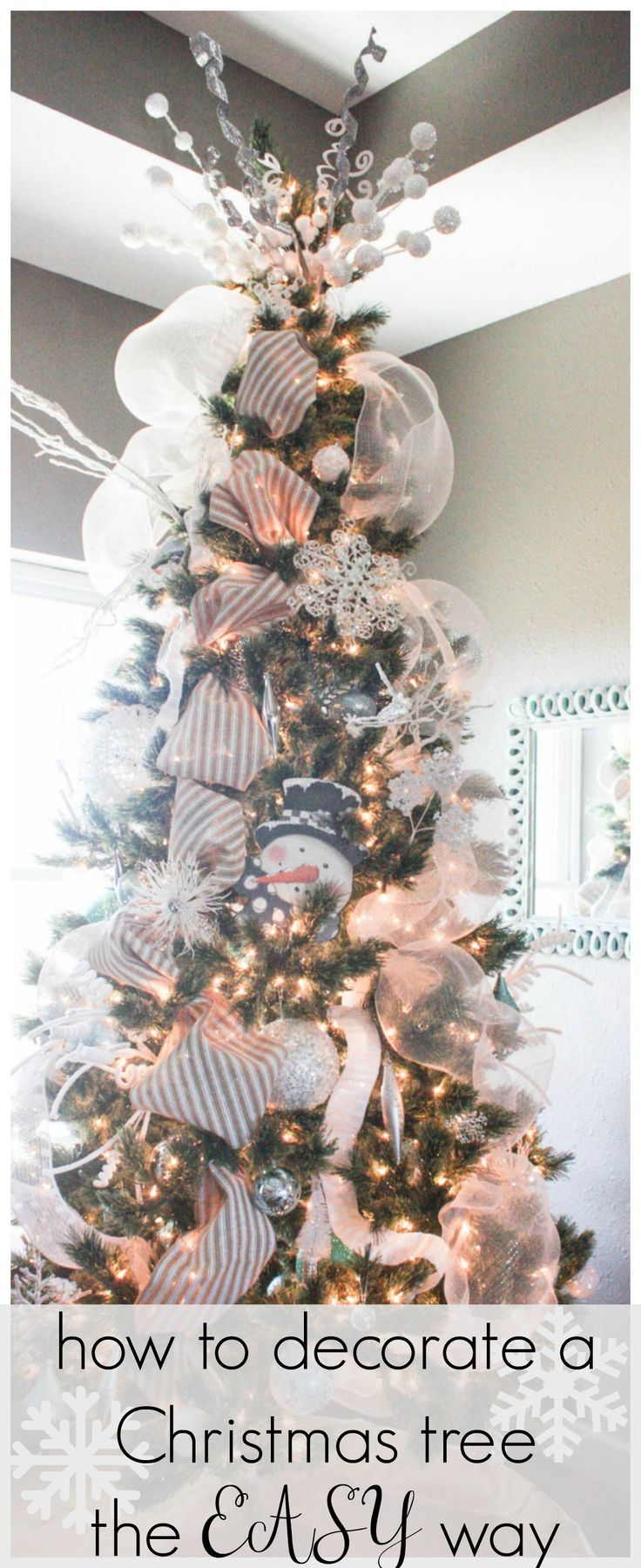 how to decorate a christmas tree from start to finish the easy way christmas pinterest christmas christmas decorations and christmas tree
