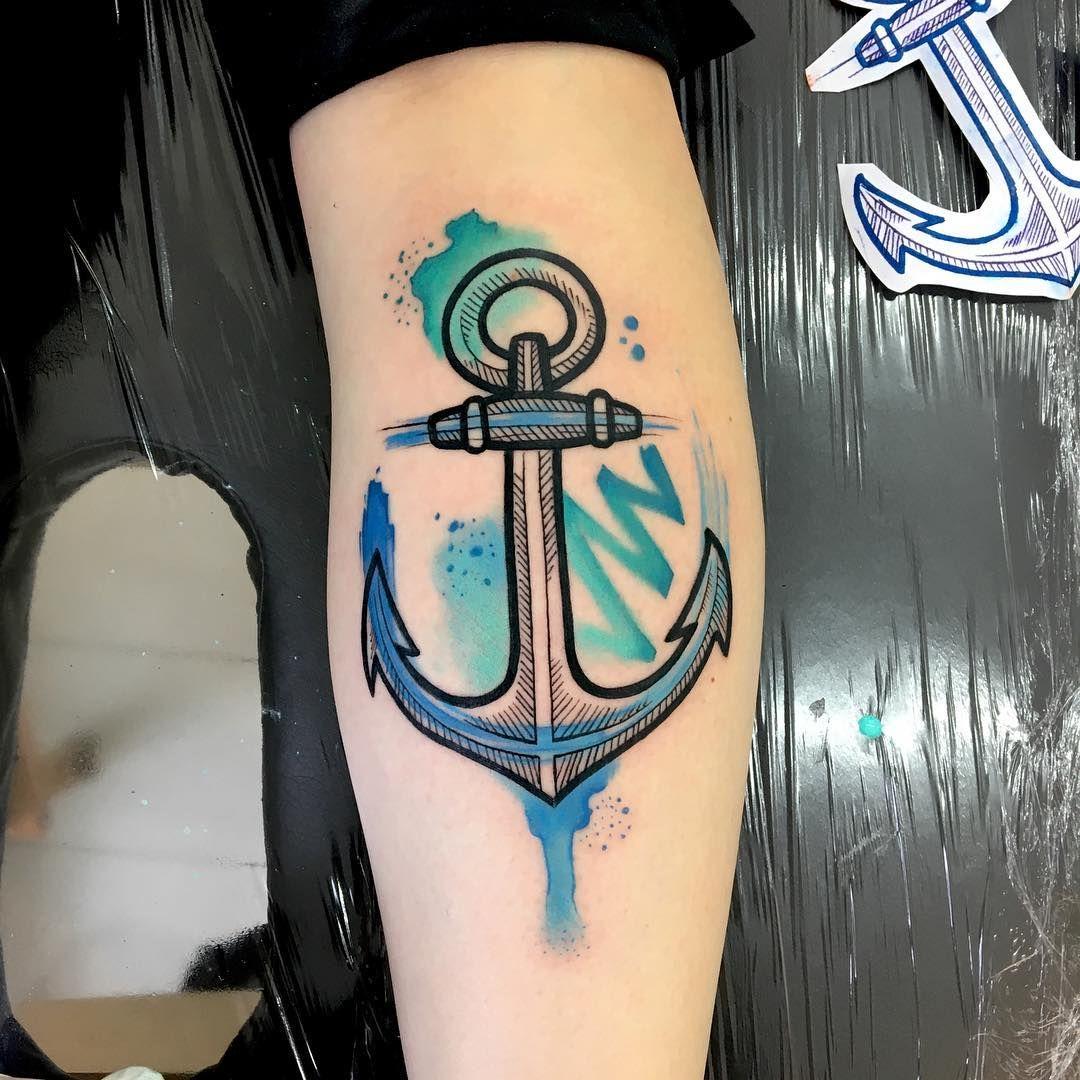 Anclas De Tatuajes Para Mujer ancla estilo acuarelas   tatuajes, tatuajes de anclas y