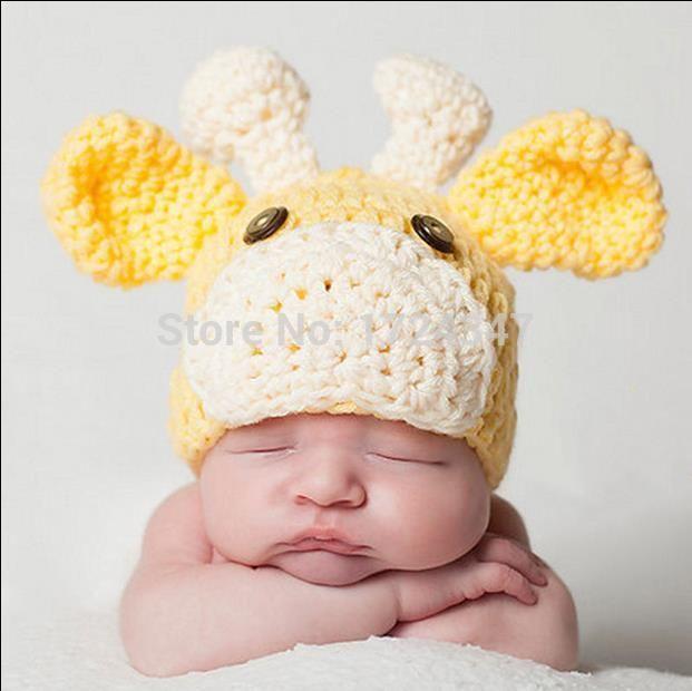 Crochet Reindeer Hat For Baby Yellow Reindeer Baby Hat   Вяжем самым ...