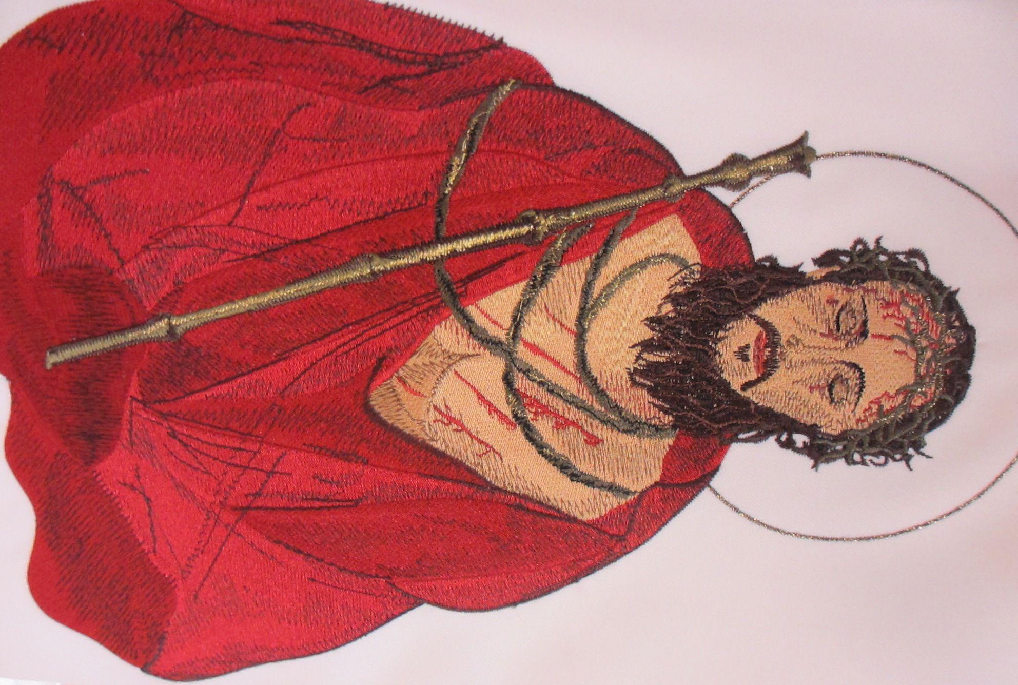 Ecce Homo - Św. Albert Chmielowski - haft
