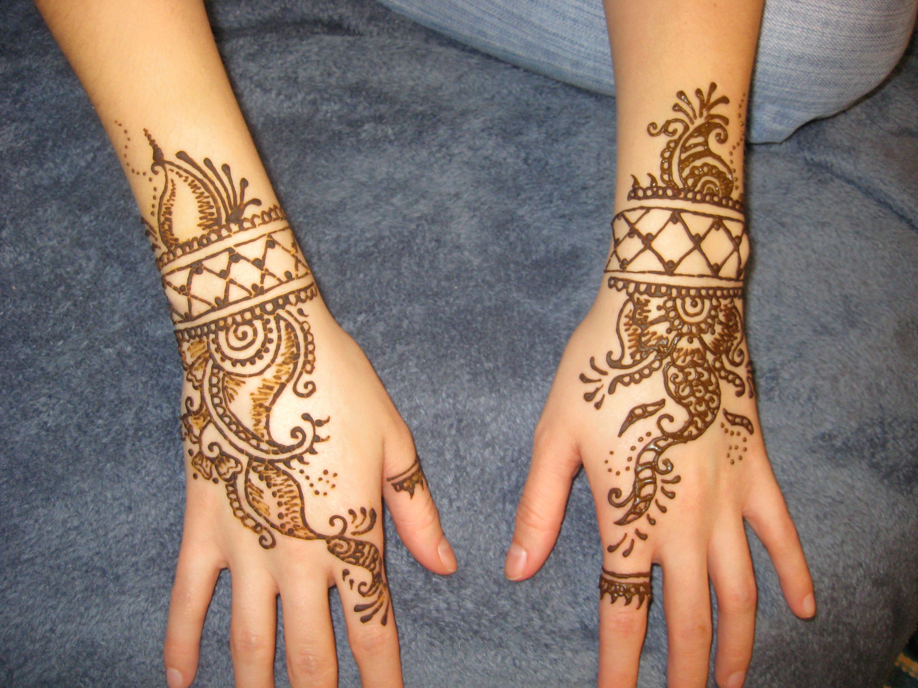 Mehndi Tattoo Cuff : Cousin requested cuff like henna bracelets art