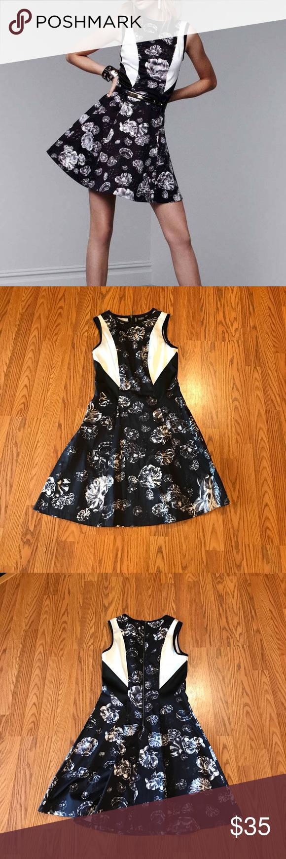 """Prabal Gurung for Target Floral Print Dress Pre-Loved excellent condition. 32"""" shoulder to hem, 15"""" armpit to armpit 14"""" waist. Size 6 Prabal Gurung for Target Dresses"""