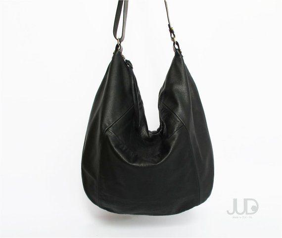 fc974b16c373 Black leather bag - leather purse SALE hobo leather bag - leather tote bag  slouchy bag crossboy bags