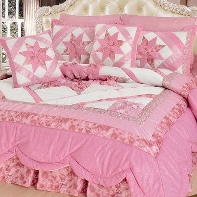 Dada Bedding New Girly Girl 5 Piece Quilt Set Size California King