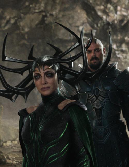 Cate Blanchett As Hela Karl Urban As Skurge In Thor Marvel
