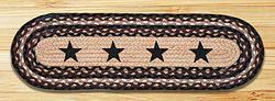 Best Black Stars Oval Braided Jute Stair Tread Stair Tread 400 x 300