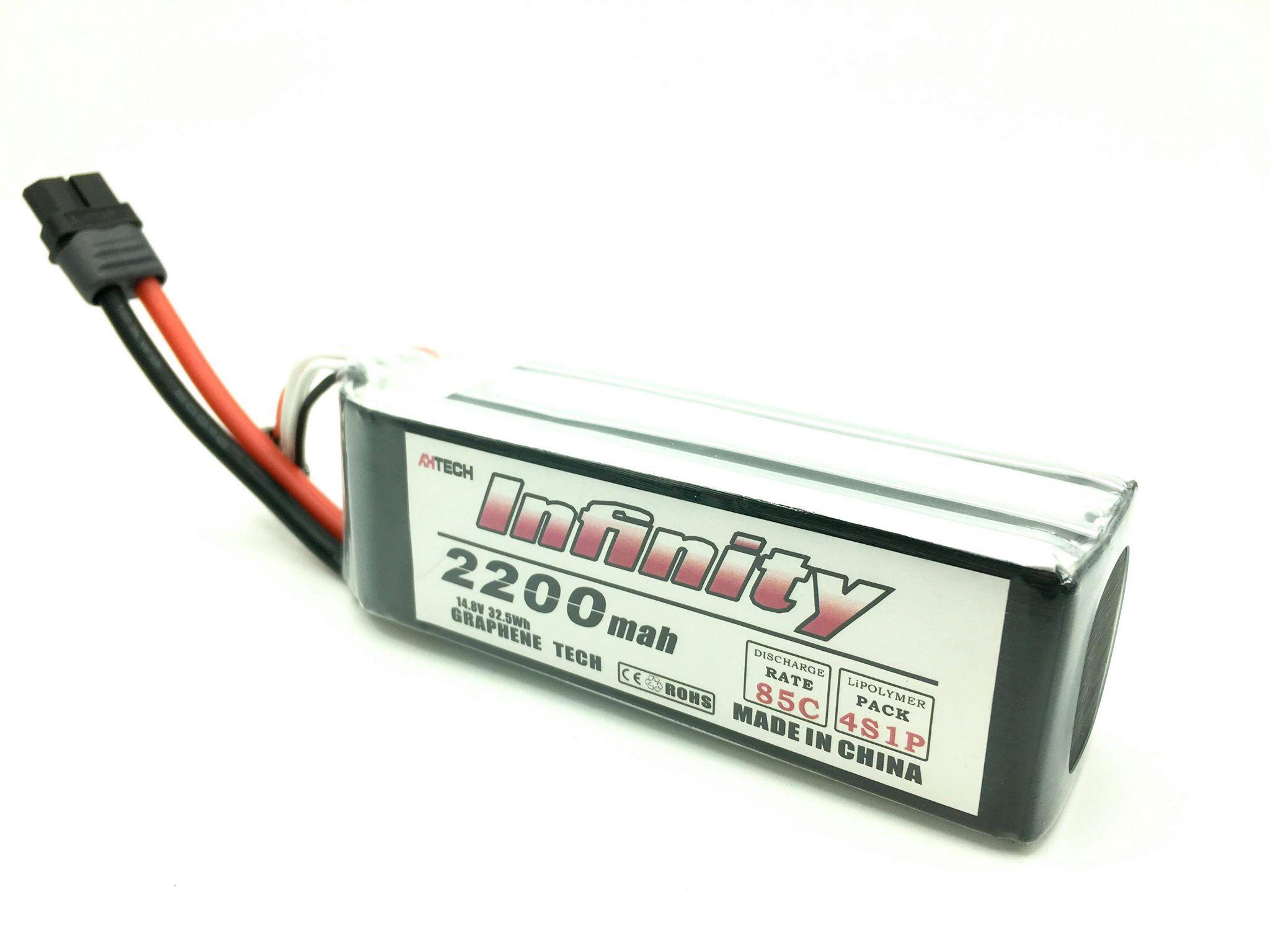Infinity 2200mah 4s 85c graphene tech lipo battery lipo