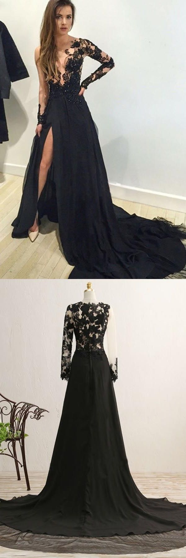 Hot sale magnificent prom dresses with sleeves aline vneck long