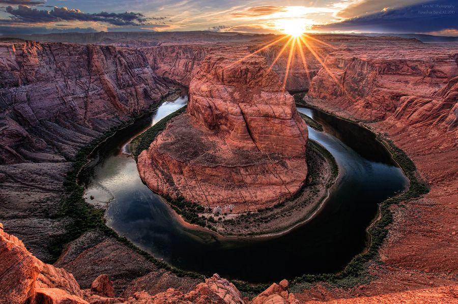 "Sunset @ Horseshoe Bend  by Noppawat ""Tom"" Charoensinphon, via 500px"