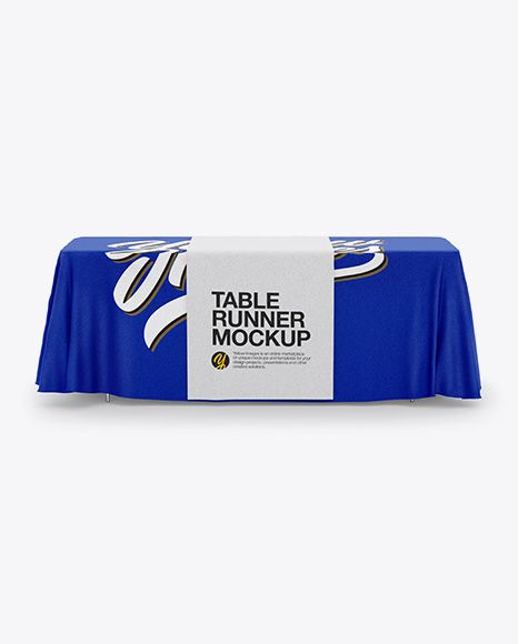 Tablecloth With Table Runner Mockup In Apparel Mockups On Yellow Images Object Mockups Design Mockup Free Free Psd Design Mockup