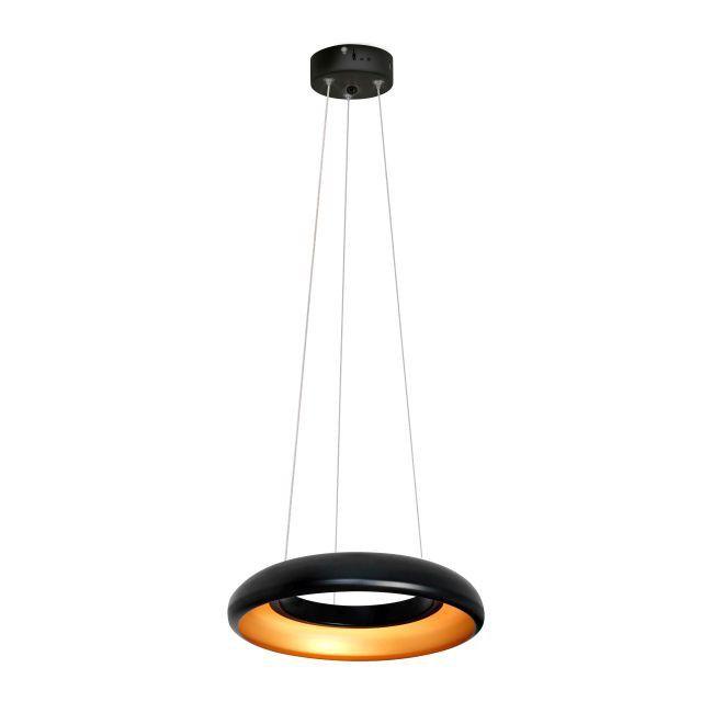 Lampa Wiszaca Led Rondo 12 W Czarna Akryl Lamp Ceiling Lamp Decor
