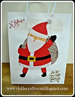 Vicki's Craft Room: Santa Gift Bag