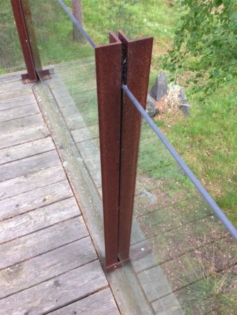 Glass Fence From Glass Table Tops Ikea Hackers Glass Fence Glass Top Table Glass Railing Deck