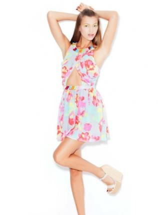 Multi Floral Dress - Sweet Candy Dress