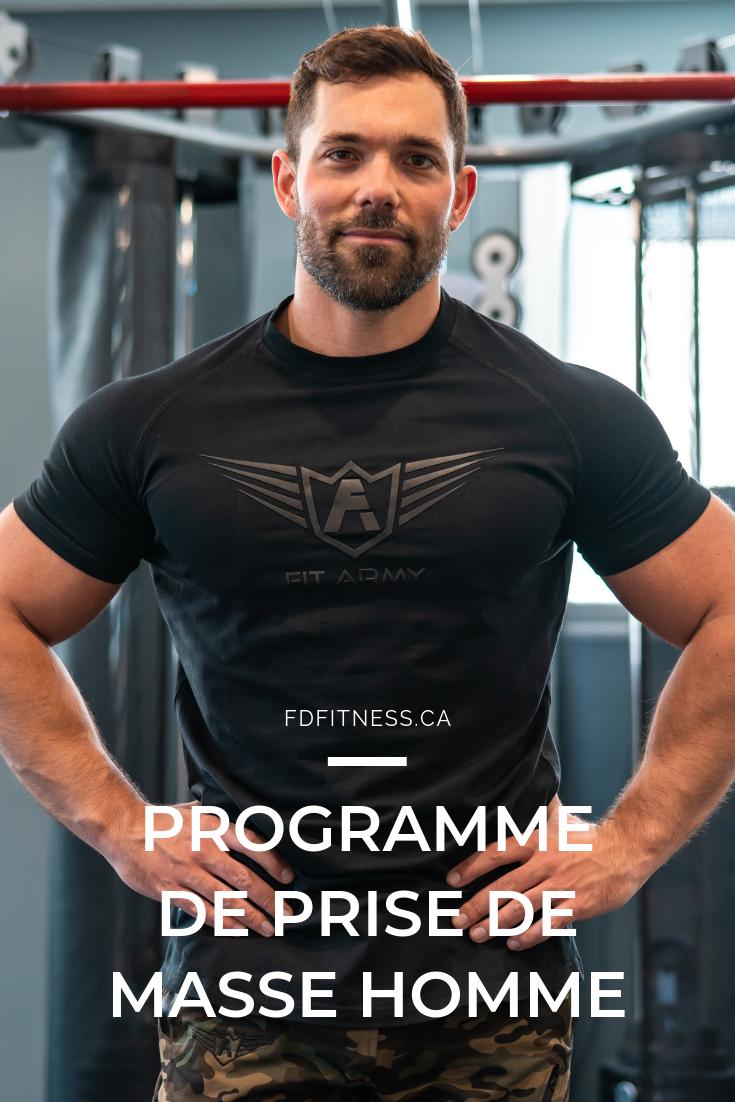 Programme D Entraînement Pour Homme Programme Musculation Homme Programme Musculation Volume Prise De Masse Musculaire