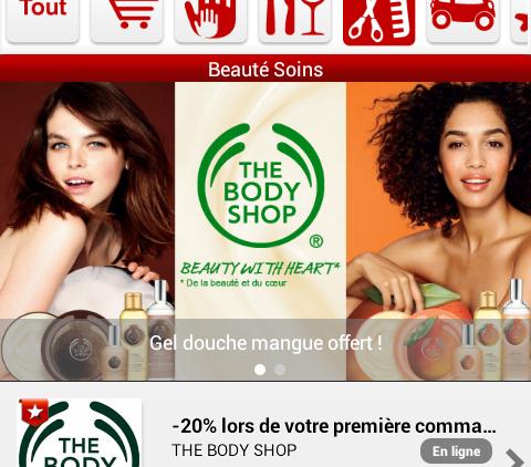 Application Mobile et réductions dans les magasins !