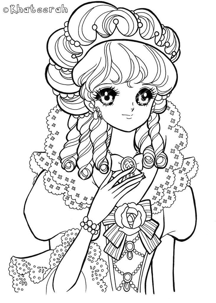 Colouring-Page40 | Colorear, Páginas para colorear y Dibujos de princesa
