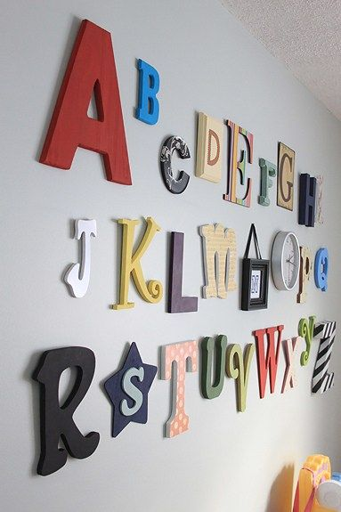 Baby Shower Painted Letters Activity Painting Wood