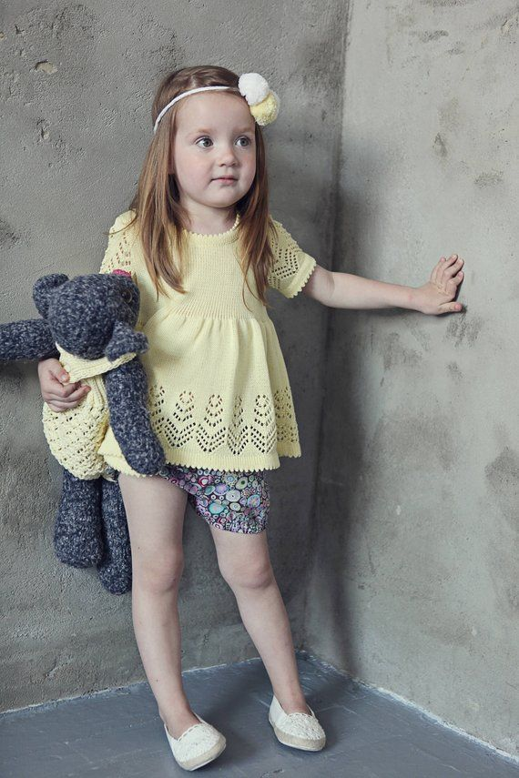 0d463443fe41 Knit girls sweater Knit Girls top Lace top Toddler girls clothes Boho tunic  Baby girls clothes Summe