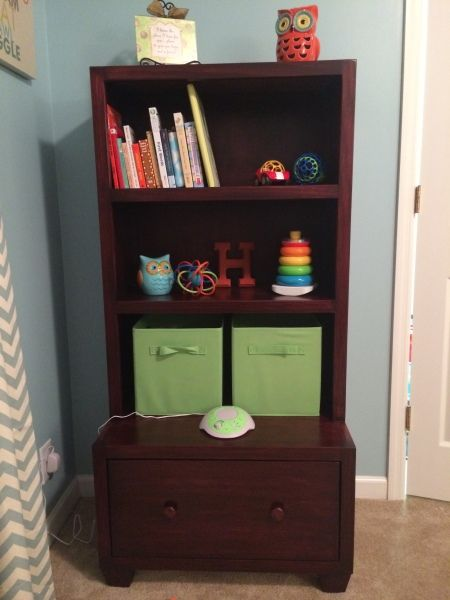 Bookcase Toy Box Combo