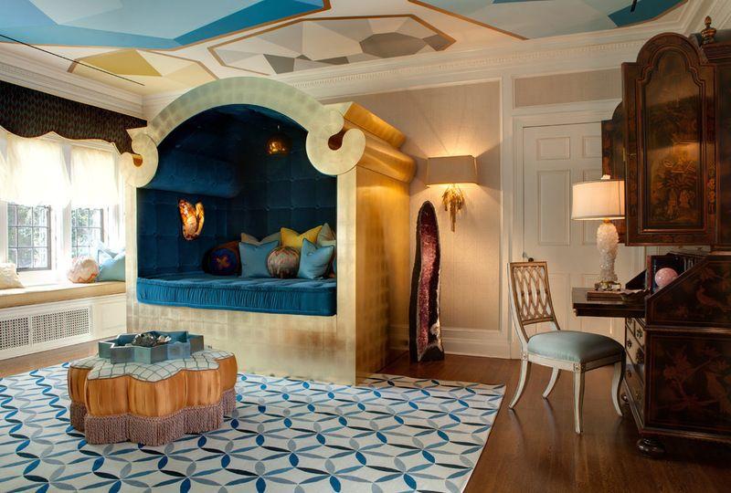 Dream Spaces 12 Disney Worthy Kids Rooms Blue And Gold Bedroom Interior Design Bedroom Eclectic Bedroom