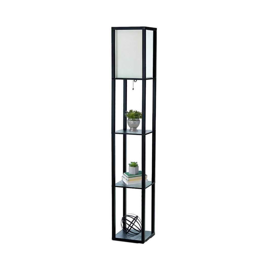 Simple Designs Home Lf1014 Blk Etagere Organizer Storage Shelf