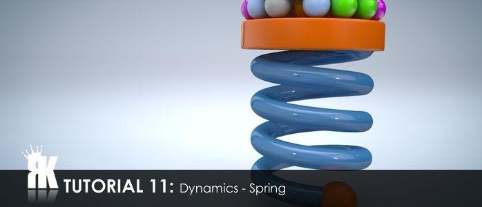Cinema 4d r12 – Dynamics: Spring | Tuts: C4D | Cinema 4d, Cinema