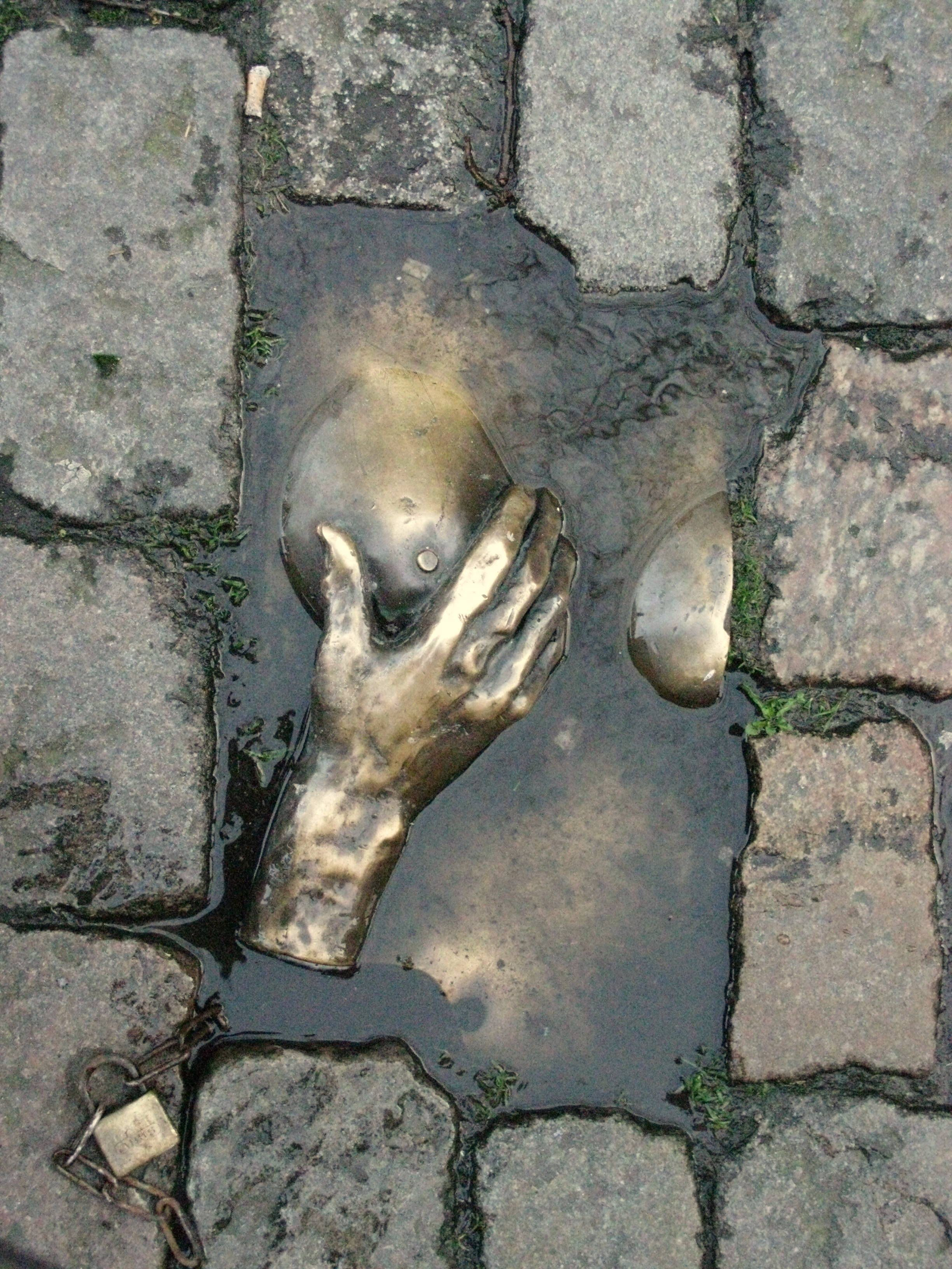 Escultura de bronce, Barrio Rojo, Amsterdam