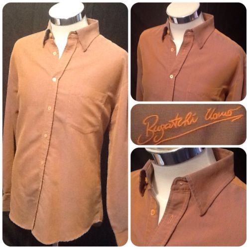 Burnt orange long sleeve dress shirt